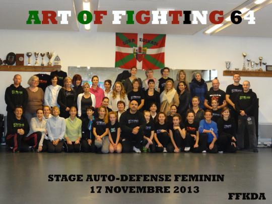Super stage d'auto-défense féminin au centre art of fighting 64 nombreux , motivé ; que du plaisir !! Merci a vous toutes et merci à mes assistants.